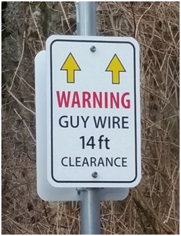 Guy Wire Warning Sign