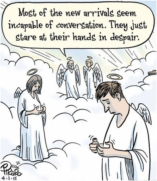 Texting Cartoon
