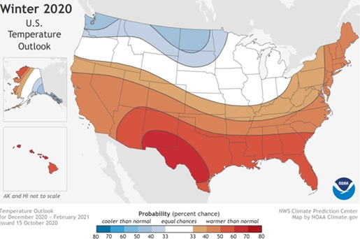 Winter 2020 Temp Map